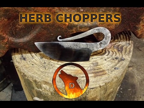 Forging an Herb Chopper and Conserving Your Steel