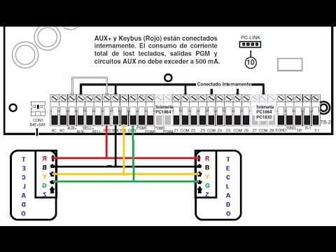 conexion y programacion alarma 1832 dsc con dos teclados