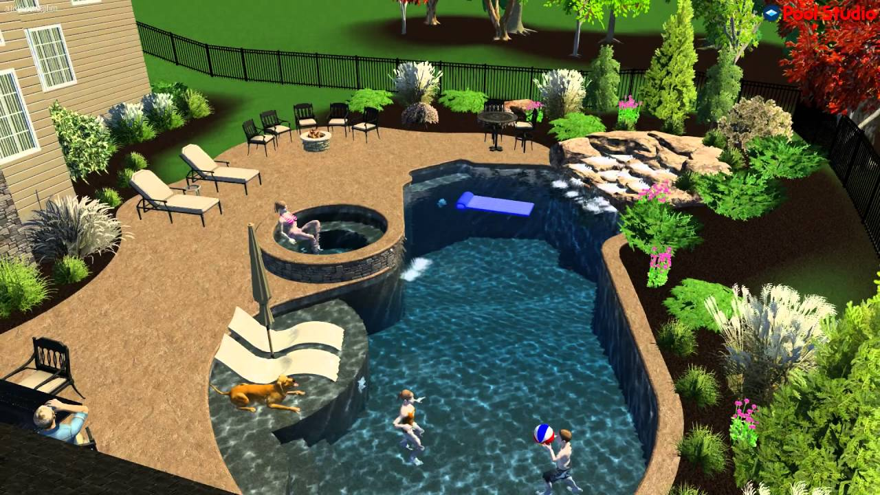 3d salt water pool design by monogram custom pools in for Water pool design