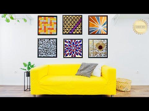 6-hyper-easy-wall-art-ideas-for-your-living-room -gadac-diy -home-decorating-ideas