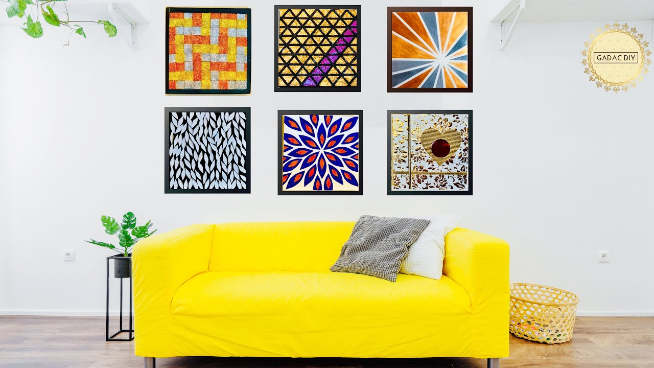 6 Hyper Easy Wall Art Ideas For Your Living Room Gadac Diy Home Decorating Ideas Youtube