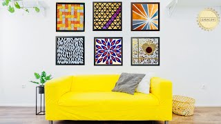 6 Hyper Easy Wall Art Ideas For Your Living Room| Gadac Diy| Home Decorating Ideas