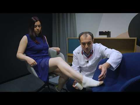 Как правильно бинтовать ногу при варикозе.