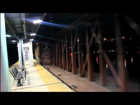 CSX Transportation: 2 CSX Freight trains passing Marble Hill - 225th Street @ NIGHT