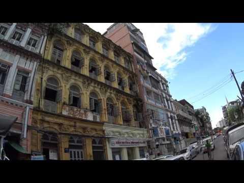 Downtown Yangon Street Walk