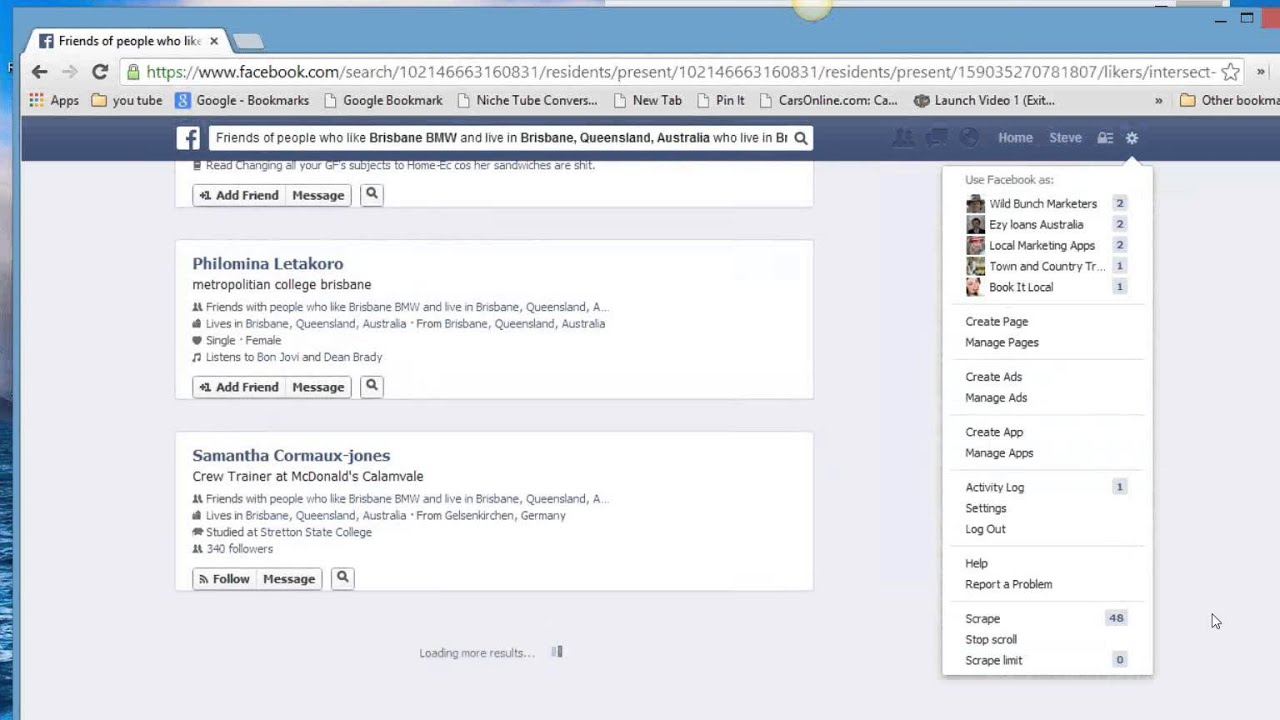 FB Target Marketing Facebook Graph Search - YouTube