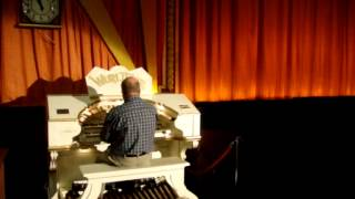 Howard Beaumont at the Wurlitzer Organ, Royalty Cinema, Bowness-on-Windermere.
