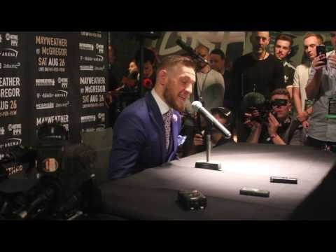 Thumbnail: CONOR McGREGOR CONFRONTS ACCUSATIONS OF RACISM DIRECTED AT HIM BY FLOYD MAYWEATHER