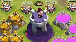 TORRE DO MAGO LVL 9 - LABORATÓRIO LVL 9 - ARMAZENS LVL 12 - CLASH OF CLANS