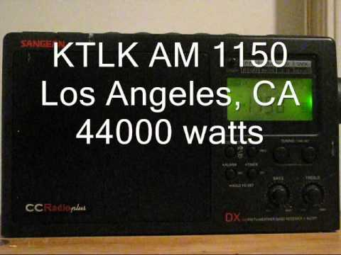 AM Bandscan with the CCRadio Plus in Los Angeles, CA