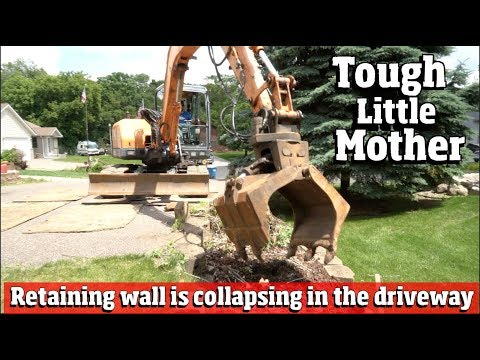 Rebuilding a Collapsing Driveway and Retaining wall