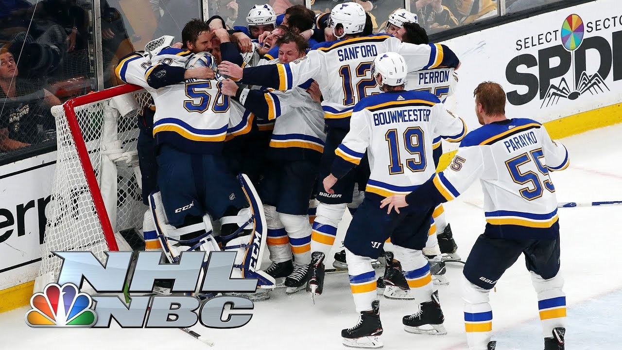 Nhl Stanley Cup Final 2019 Alex Pietrangelo St Louis Blues Hoist Stanley Cup Nbc Sports Youtube