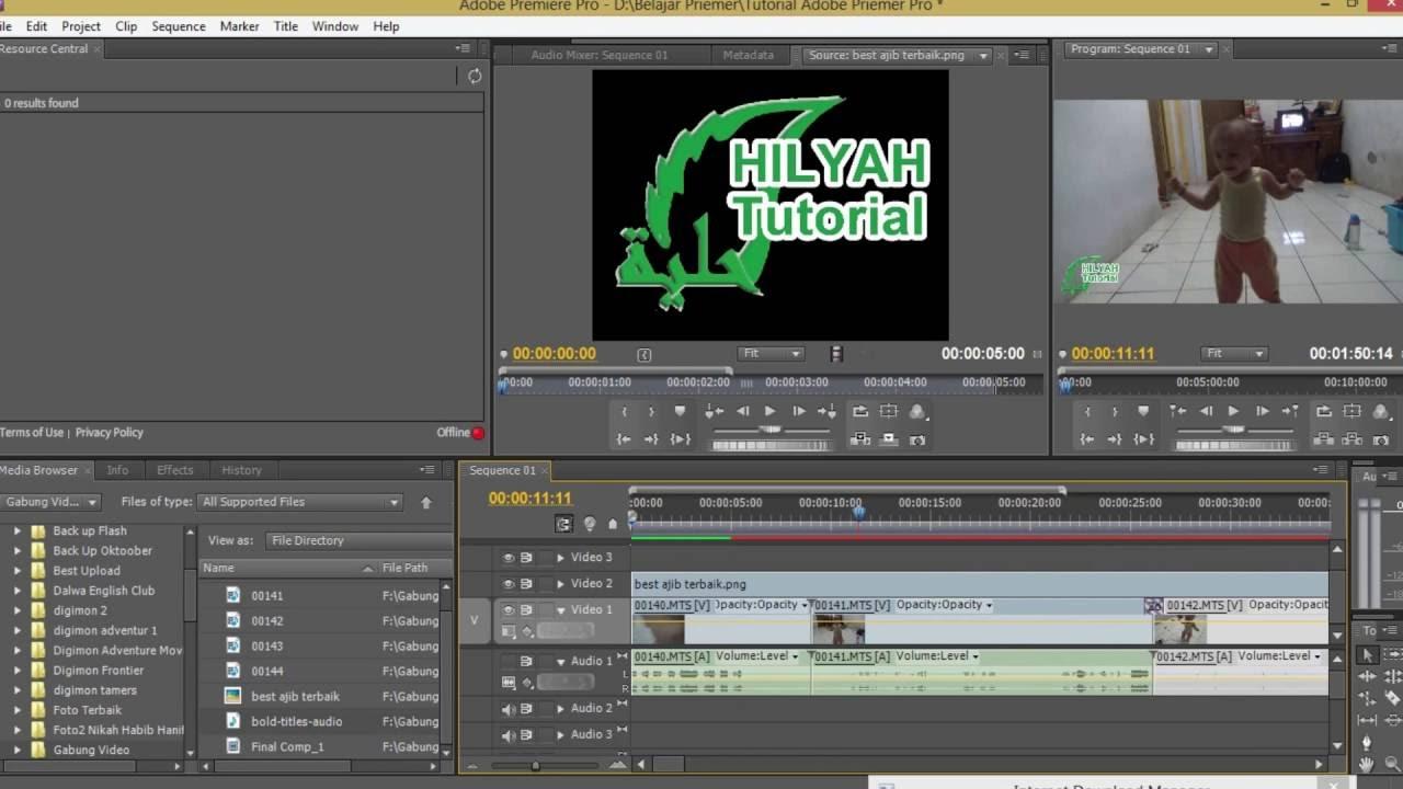 Tutorial Basic Adobe Preimer Pro Cara Memasukkan Logo Ke Video Premiere Pro Youtube