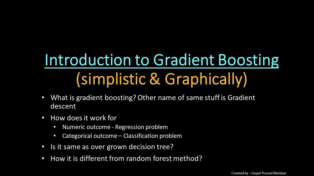 Introduction To Gradient Boosting algorithm (simplistic n graphical) -  Machine Learning