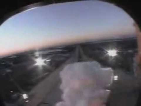 Space Shuttle Launch from Orbiter Crew Compartment Window