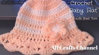 How to crochet baby / child's summer hat (también en Español) -