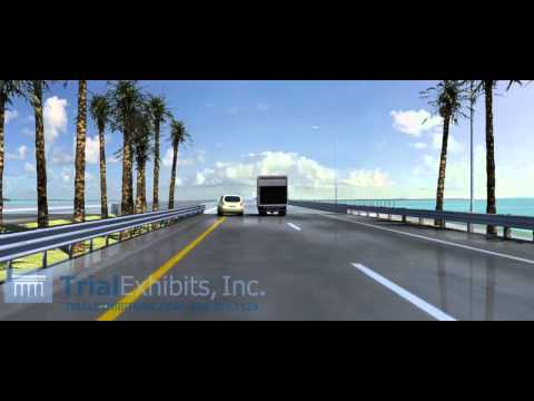 Wet Road Vehicle Collision 3D Animation