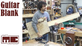 Making a Guitar Body Blank from a Slab