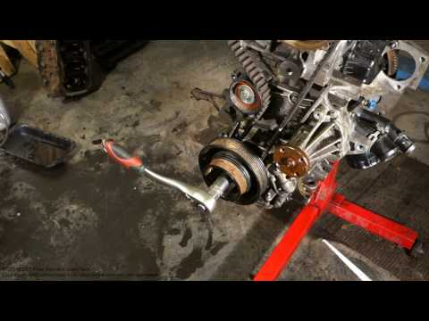 How to replace timing belt Ford Zetec engine Part 2 /4
