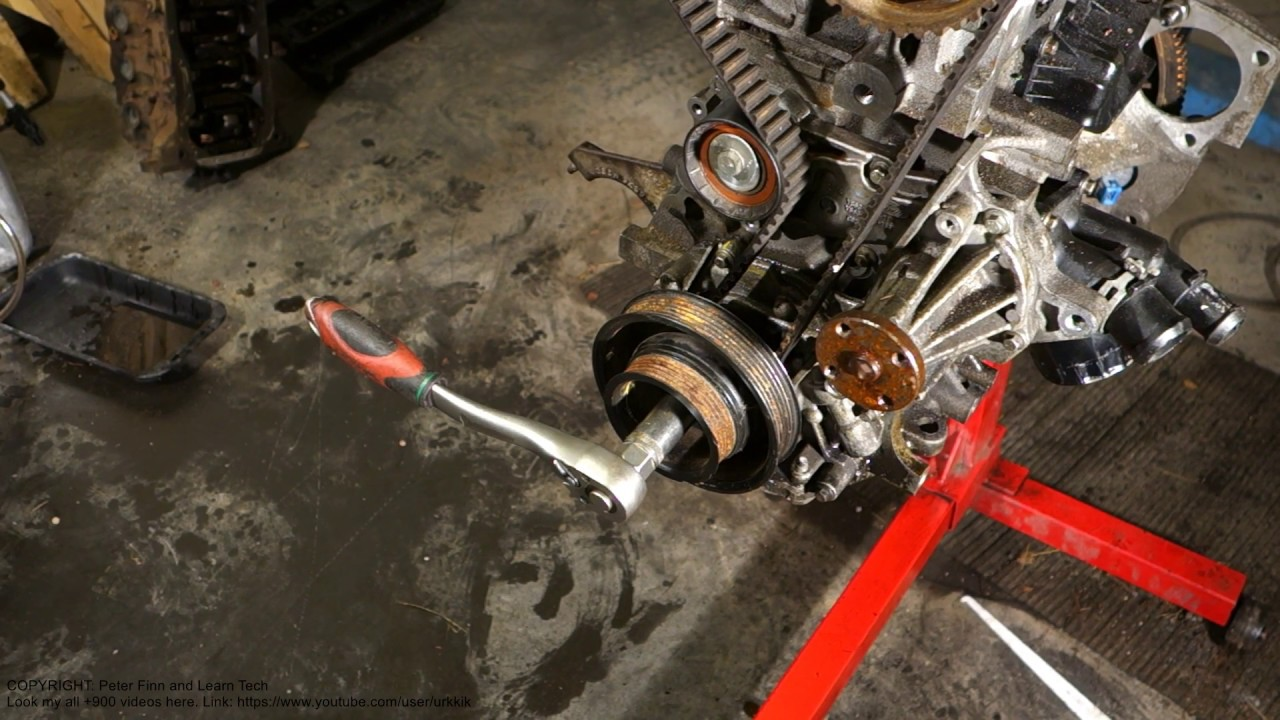 how to replace timing belt ford zetec engine part 2 4 [ 1280 x 720 Pixel ]