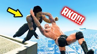 GTA 5 WRESTLING LIKE IN WWE #28 (Funny Ragdoll Wrestling, RKO, Spear, and more!)