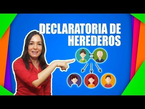 Declaratoria de HEREDEROS ✨ ▼ SUCESIONES