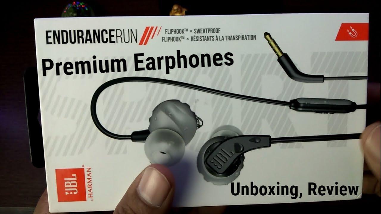43cf77ae0bf JBL Premium Earphones Unboxing & Review - JBL Endurance Run - YouTube