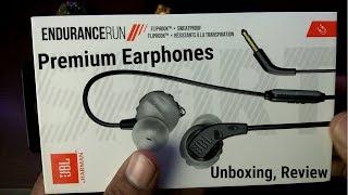 JBL Premium Earphones Unboxing amp Review - JBL Endurance Run