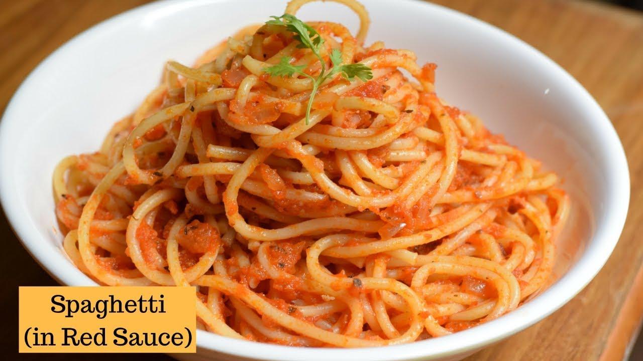 Spaghetti in Tomato sauce  Red Sauce spaghetti Pasta  Flavours Of Food