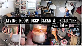 Making The House A Home//Living Room Deep Clean & Declutter//Bringing Fall Vibes