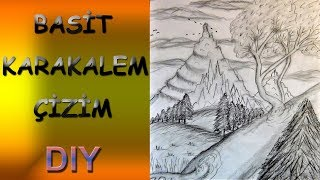 Basit Karakalem Çizim |  Simple Drawing | Diy