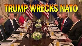 Trump Wrecks NATO in Brussels over Germany Depending on Russia For Energy (REACTION)