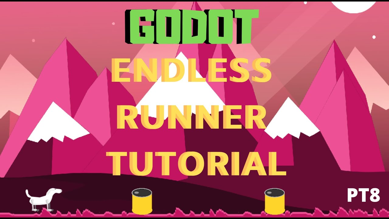 Godot beginner tutorial endless runner object movement part 8