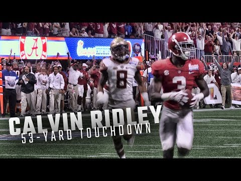 Alabama QB Jalen Hurts hits Calvin Ridley for a 53-yard touchdown vs Florida State