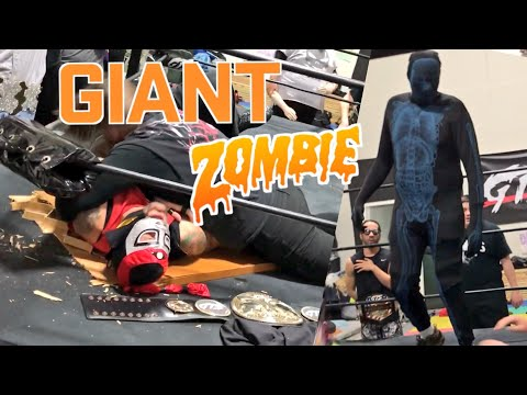 7FT TALL HIP HOP ZOMBIE ROASTED BY GTS CRITIC! U.S. CHAMPIONSHIP CHALLENGE GOES WRONG!