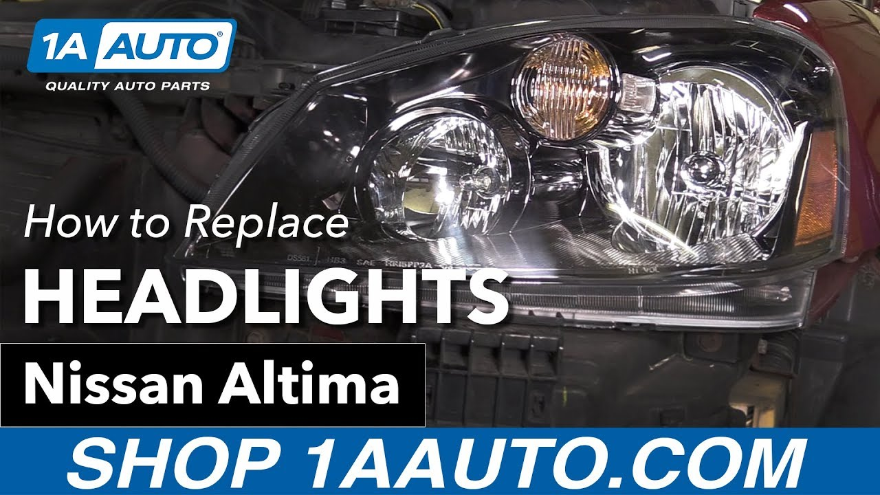 How To Replace Install Headlights 2005 06 Nissan Altima