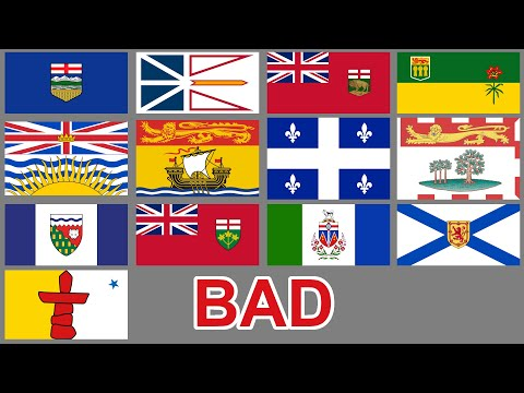Canada's Province And Territory Flags Are Mostly Terrible