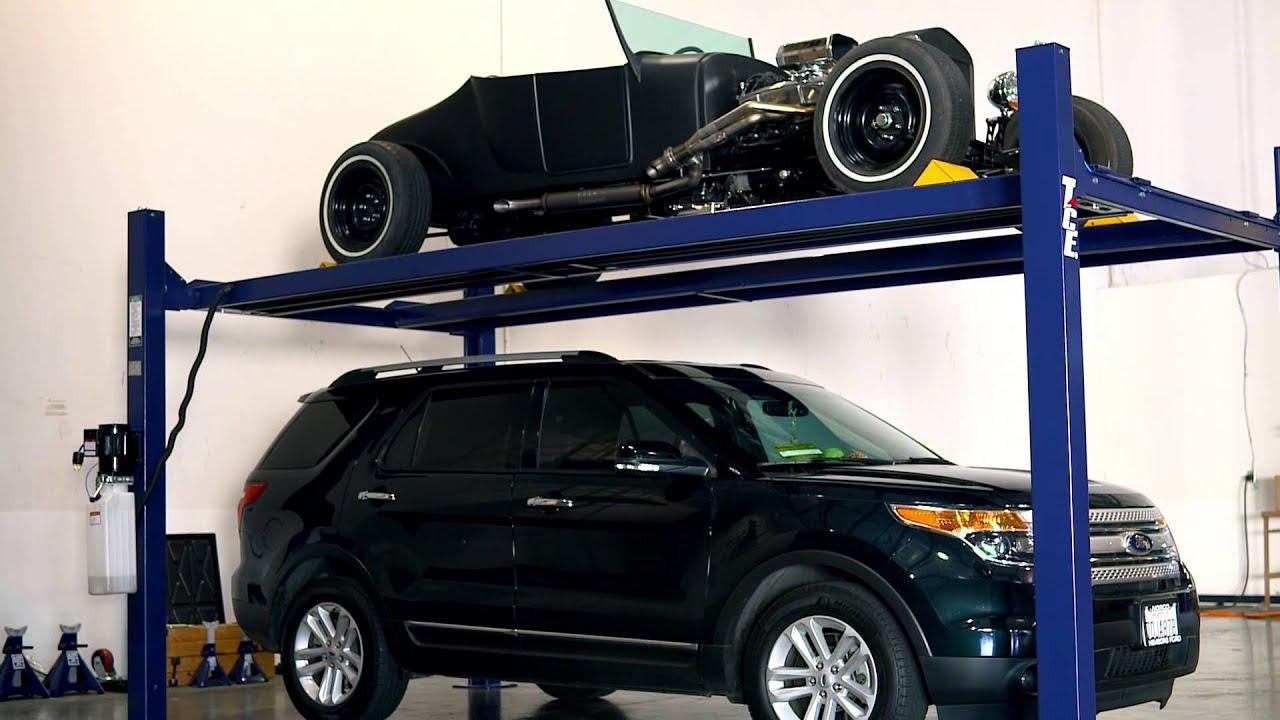 tce 4 post car lift youtube