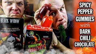 connectYoutube - Spicy Pepper Gummies with Dark Chili Chocolate | Mukbang Monday
