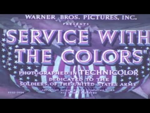 SERVICE WITH THE COLORS - 1940 U.S. Army Recruiting Film 2649
