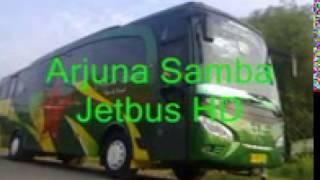 Bus Arjuna Samba jalan santai