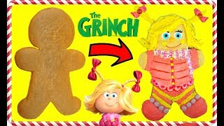 The GRINCH MOVIE Inspired Cindy Lou Who Gingerbread Man Cookie Decoration