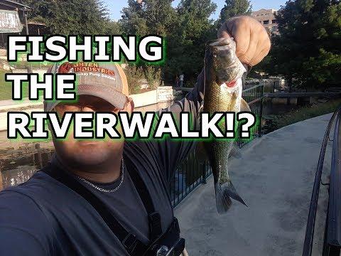Fishing The Riverwalk In Downtown San Antonio