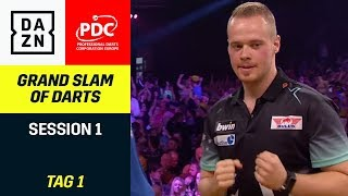 Max Hopp, Rob Cross und Co. starten in Aldersley | Grand Slam of Darts | Highlights | DAZN