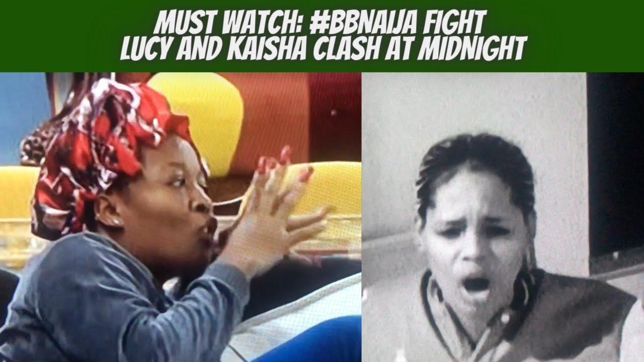 Watch! BBNaija Fight  Lucy and Kaisha in Fierce Clash