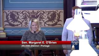 Sen. O'Brien honors Collin McDonough for his contributions to the Michigan Senate