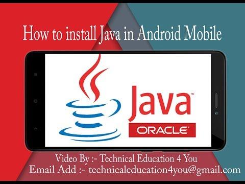 How To Install Java In Android Mobile In Hindi || जावा को  एंड्राइड मोबाइल मैं कैसे इनस्टॉल करैं