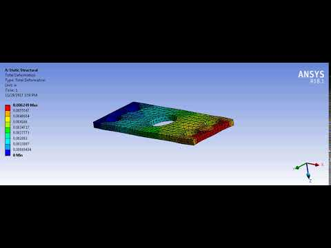 Chess Subsea Engineering   Structural Steel Metal Plate   Total Deformation Simulation