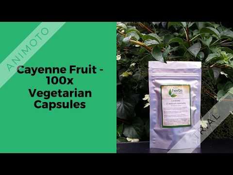 Home Herbs: Cayenne Fruit - 100x Vegetarian Capsule