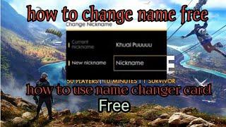 Free Fire Name Change Design
